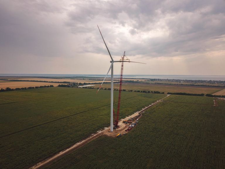 A company from Turkey built a powerful wind farm in Odessa