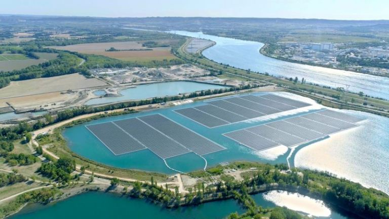 Europe's largest floating solar plant opens in France