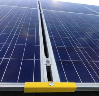 Protection clamp for solar panel