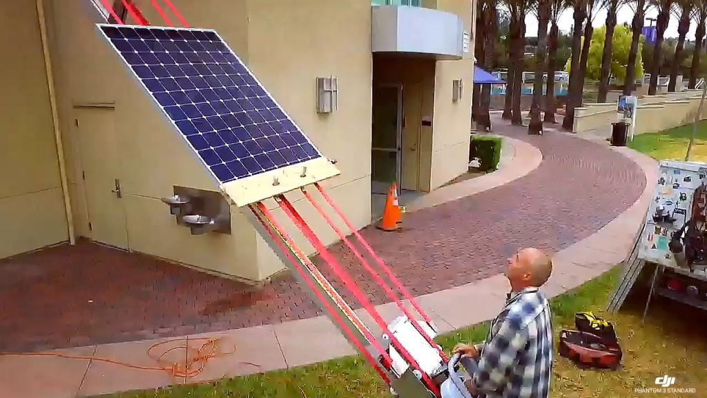 You can make solar panel lift yourself